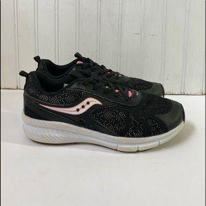 Saucony Velocity Girl's 13.5M Sneaker Black/Pink